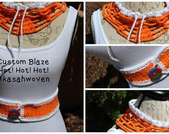Crochet Open Scarf & Waist Trimmer Belt Set