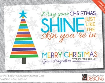 Skin Care Consultant - Christmas/Holiday Card - Digital File Only