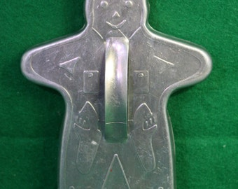 Vintage Gingerbread Man / Cowboy Sheriff Aluminum Cookie Cutter