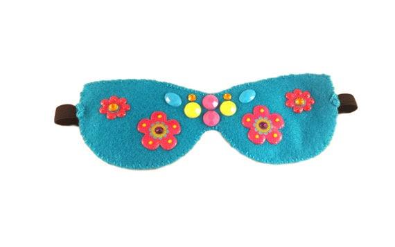 Cute Gift - Felt Travel Accessory - Tween Girls - Sleep Mask - Get Well Gift - Sleepover - Night Mask