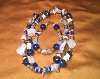 Fresh Water Pearls*Lapis Lazuli*Coral Jewelry*Jasper Necklace*Ladies Necklace*Jewelry Sets*Unique Jewelry*Handmade Jewelry*Long Necklaces