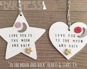 To The Moon and Back - Wooden Heart / Star