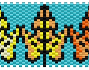 Autumn Leave Peyote Stitch Bracelet Pattern