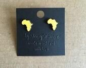 Wood Africa Stud Earrings