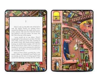 Amazon Kindle Skin - Library Magic by Colin Thompson - Sticker Decal - Fits Paperwhite, Fire, Voyage, Touch, Oasis