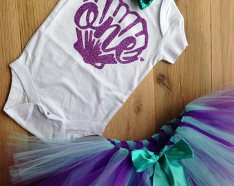 Mermaid First Birthday Outfit Girl/Under the Sea Tutu Birthday Outfit/Little Mermaid Birthday/Mermaid 1st birthday outfit