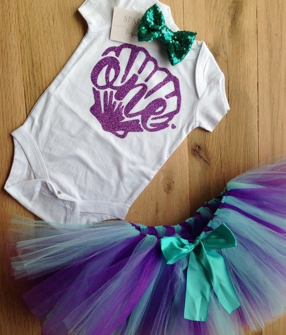 Mermaid BIrthday Outfit First Birthday Outfit Girl Mermaid