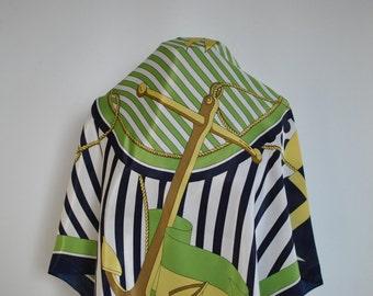 Vintage PRINTED SILK SCARF , vintage scarf......(128)