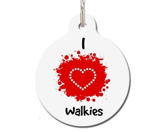 I Love Walkies Pet ID Tag | FREE Personalization