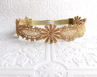 The Gold Metallic Daisy Crown