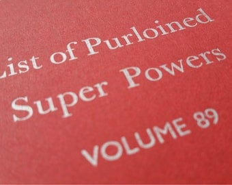 Super Powers - Small Funny Letterpress Journal, Jotter, Cahier, Moleskine - A5 Lined Notebook