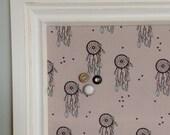 Babillard aimanté fait main recouvert de tissu capteurs de rêve organisation chambre mémo photos décor mural tableau d'affichage à aimants