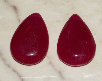 NEW.. Natural Ruby Gemstone Teardrops