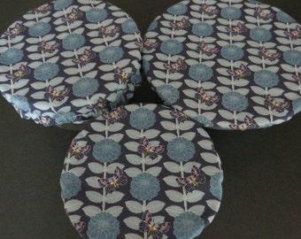 Reusable Bowl Covers, Elastic Bowl Lids, Eco Friendly Lids, Floral Bowl Covers