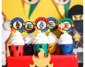 Ninjago; Legos; Ninjago Lego Party; Ninjago Birthday Party; Ninjago Lego; Ninjago Birthday; Lego Birthday Party Cupcake Wrappers and Toppers