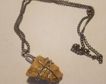 Texas arrowhead pendant
