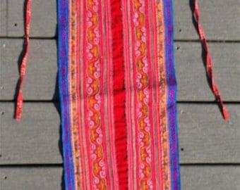 Hmong apron, machine stitched