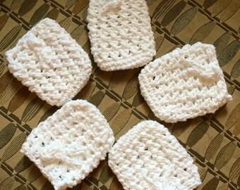 Crochet Soap Cozy, Cover for soap, Soap Cover, Soap Saver, Small Drawstring pouch, crochet soap cozy, Soap Buddy
