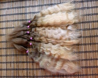 Combed mohair / 8 inches / Doll Hair / Combed mohair for doll hair/ Blythe Doll