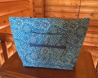 Blue Bandana Handbag
