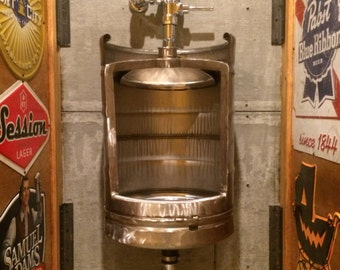 Beer Keg Urinal - Stainless Novelty Toilet for Bistro, Cafe, Restaurant, Winebar, Brewery or Man Cave , keg urinal