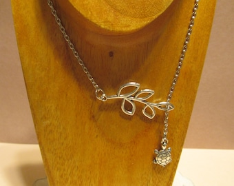 Pretty Leaf and Turtle Charm necklace.