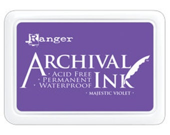 New! MAJESTIC VIOLET Archival Ink Pad by Ranger - Summer 2016