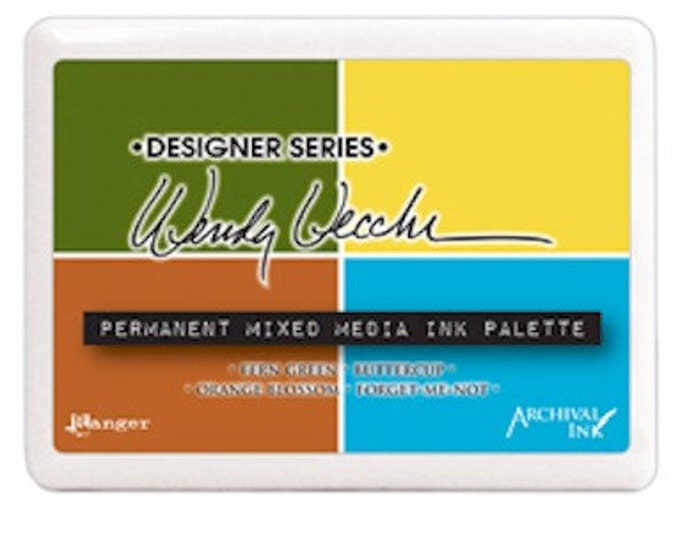 Wendy Vecchi Permanent Mixed Media Ink Palette Pad