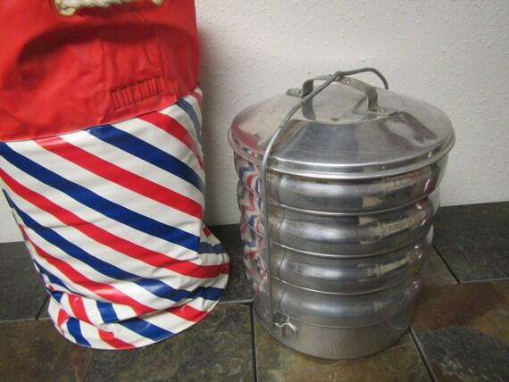 Vintage Regal Ware Aluminum Stacking Picnic Camping Food