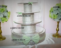 Bling 4 Tier Cupcake Stand only for Sweet 16 Wedding Quinceanera Babyshower Bridal shower Birthday