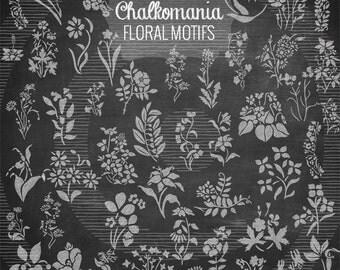 Chalk Floral Motifs