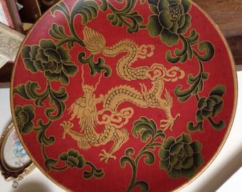 Gorgeous Gold Dragon Decorative Plate
