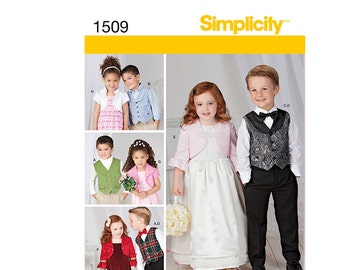 Simplicity 1509A, Simplicity Sewing Pattern 1509A,  Boy's Vest Pattern, FREE SHIPPING, Sizes 3-8