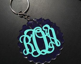 SALE Scalloped Key Chain