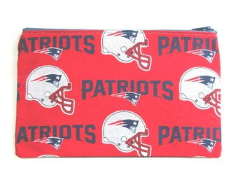 New England Patriots Pencil Case // Football Pencil case // Football party // Football Gift
