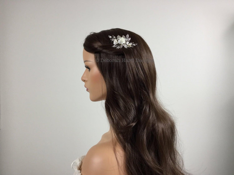 Elegant beach wedding hair jewelry - Silver bridal hair comb ...