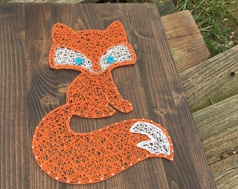 MADE TO ORDER String Art Fox Sign