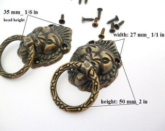 Kit Bronze Diy Handles_PA5452100867_ Diy Supplies_LION'S HEAD Handles of 50x27 mm_ pack 2 pcs