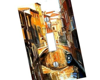 Light Switch Plate Tuscan Decor Venice Italy Theme Living Room Bedroom Retro Art