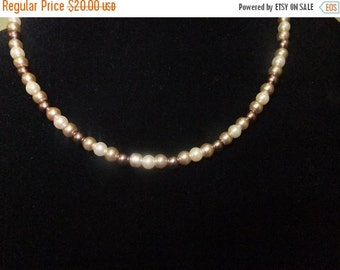 ON SALE Brown Pearl Necklace