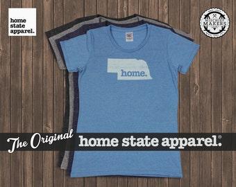 Nebraska Home. T-shirt- Womens Cut