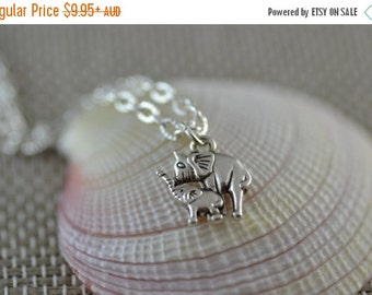 SALE Elephant Mama and Baby necklace, NE006, Mother Daughter Son, New Mother, Mother's Day, Pregnancy, Pregnant