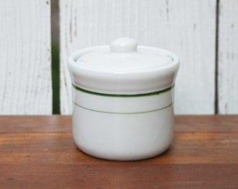 Vintage Tepco Lidded Condiment Jam Jelly Jar / China Restaurant Ware