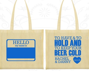To Have and To Hold Bags, Wedding Bags, Hello My Name Is, Name Tags Wedding Bags, Custom Wedding Tote (18)