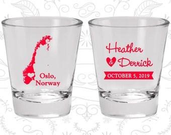 Norway Shot Glass, Norway Shot Glasses, Norway Glass, Norway Glasses, Norway Glassware (186)