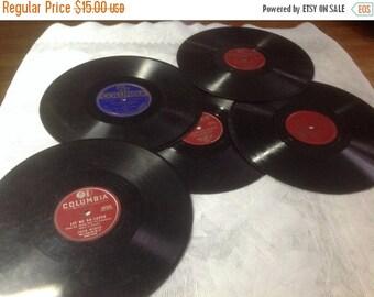 60% Off Sale Five Vintage 78 / 33 RPM Columbia Records