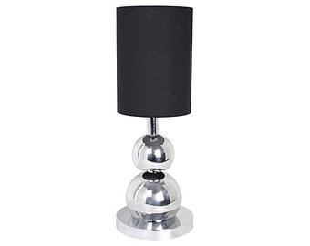 Kovacs-Style Double Orb Chrome Lamp
