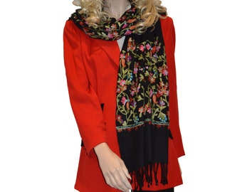 Scarf/Scarves/Shawl/Shawls/Embroidery Shawl from Cashmere Pashmina Group (11)