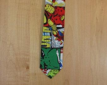 Avengers Comic Skinny Neck Tie