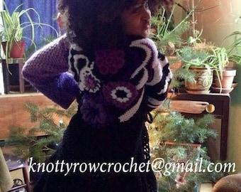 Girls Freeform Crochet Sweater